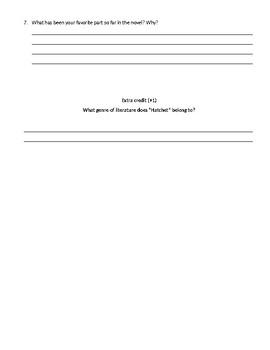Hatchet Quiz Chapters 1-7