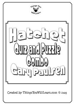 Hatchet Quiz, Test, and Crossword Puzzle Bundle (Gary Paulsen)