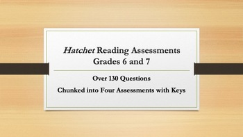 Hatchet Reading Assessments—Grades 6-7