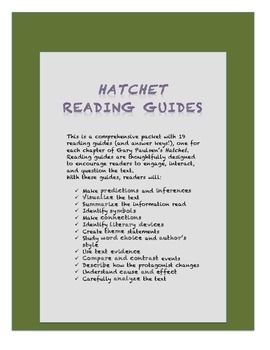 Hatchet Reading Guide