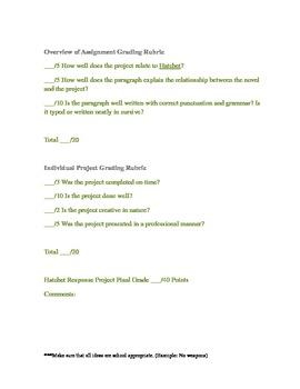 Hatchet Response Project