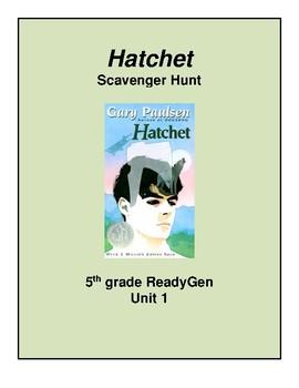 Hatchet Scavenger Hunt, 5th grade ReadyGen Unit 1