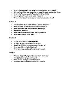 Hatchet Study Guide