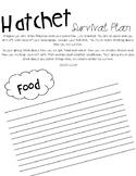 Hatchet Survival Plan Packet