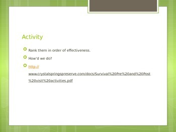 Hatchet Survival Powerpoint Activities Introduction