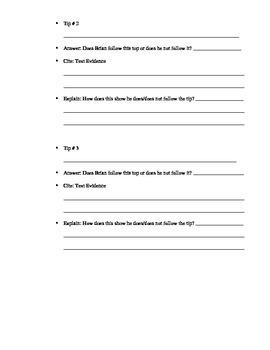 Hatchet Survival Tips Essay