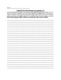 Hatchet TDA Question - Short Response