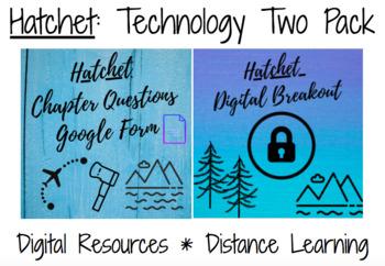 Hatchet Tech Two Pack: Digital Breakout & Google Form Chapter Quizzes