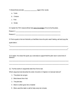 Hatchet Test 1-10