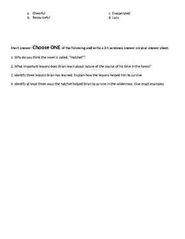 Hatchet Test