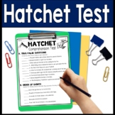 Hatchet Test: Final Book Quiz with Answer Key