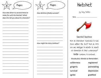 Hatchet Trifold - ReadyGen 5th Grade Unit 1 Module A