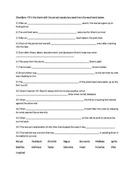 Hatchet Vocabulary Practice #3