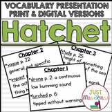Hatchet Vocabulary Presentation