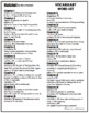 Hatchet Vocabulary Word List