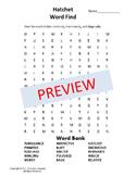 Hatchet Word Find {Bell Ringer}