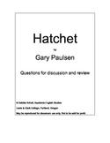 "Hatchet Workbook to Accompany ""Hatchet"" by Gary Paulsen"