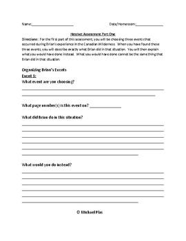Hatchet Written Assessment