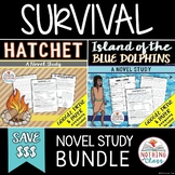 Hatchet and Island of the Blue Dolphins Novel Study Unit Bundle