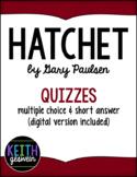 Hatchet by Gary Paulsen: 10 Quizzes