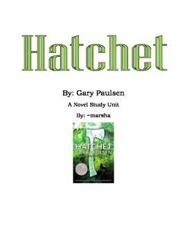 Hatchet by Gary Paulsen - A Novel Study