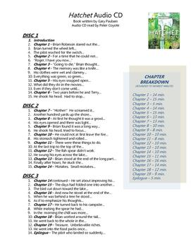 Hatchet by Gary Paulsen Audio CD Chapter Breakdown