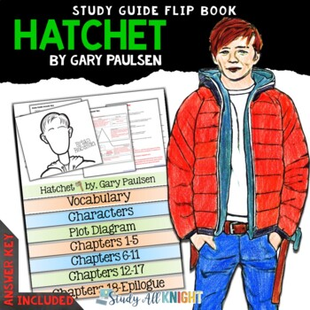 HATCHET BY GARY PAULSEN NOVEL STUDY LITERATURE GUIDE FLIP BOOK