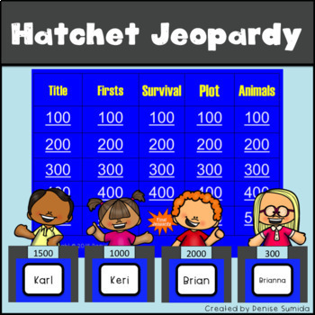 Hatchet by Gary Paulsen Jeopardy