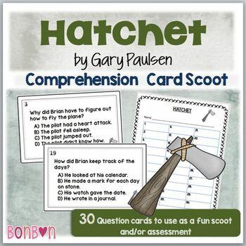 Hatchet by Gary Paulsen - Literature Scoot/Comprehension T