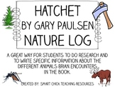 Hatchet, by Gary Paulsen, Nature Log Activity ~ Research Skills