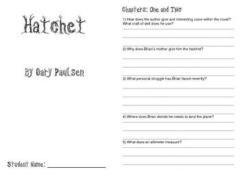 Hatchet by Gary Paulsen Novel Study