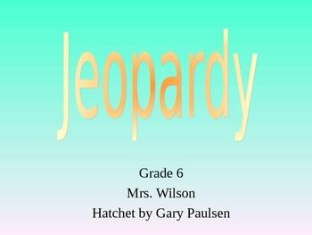 Hatchet by Gary Paulsen Novel Study Jeopardy PPT Game Review