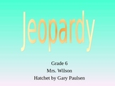 Hatchet by Gary Paulsen Novel Study Jeopardy PPT Game Review