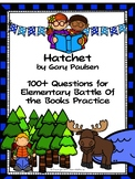 Hatchet by Gary Paulsen - Over 100  EBOB Questions
