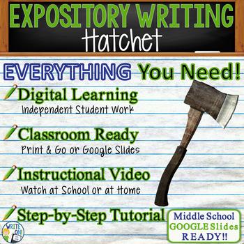 Hatchet by Gary Paulsen - Text Dependent Analysis Expository Writing