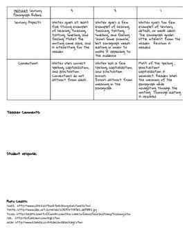 Hatchet by Gary Paulsen, Writing With Sensory Details