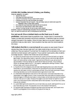 Hatchet guided reading novel study