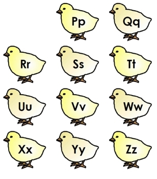 Hatchin' Alphabet