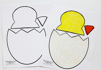Hatching Chick Printable Craft Template