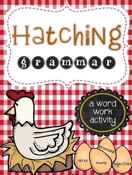 Hatching Grammar: A Word Work Activity for Parts of Speech Practice