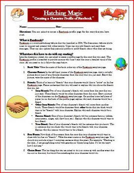 Hatching Magic Facebook Reading Comprehension Activity