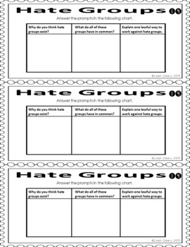 Sociology Hate Groups in the U.S. Research Project