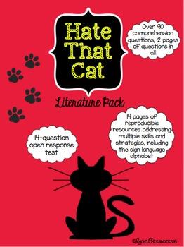Hate That Cat Literature Pack