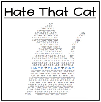 Hate That Cat Novel Study and Poetry Unit