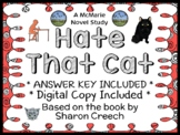 Hate That Cat (Sharon Creech) Novel Study / Reading Comprehension
