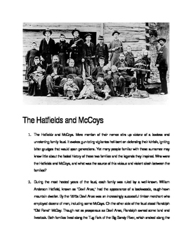 Hatfields and McCoys- Romeo and Juliet