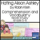 Hating Alison Ashley Comprehension and Vocabulary