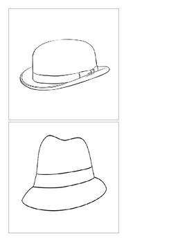 Montessori Classified Cards - Hats - Color It!