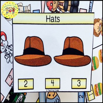 Hats Clip Task Cards