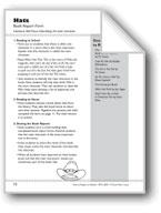 Hats (Describe Main Character): Book Report Form